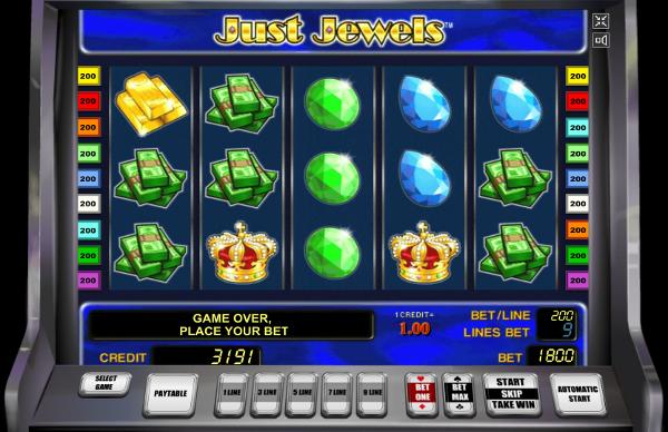 Игровой автомат Just Jewels - выиграй драгоценности в казино Вулкан