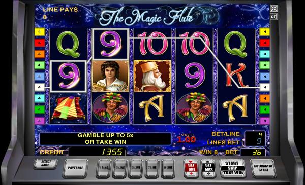 Игровой автомат The Magic Flute - испытай свою удачу в казино Azino777
