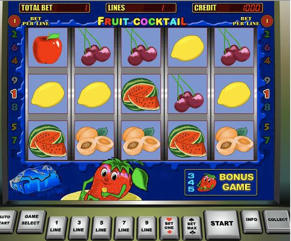 Собери фруктовое ассорти с игровым автоматом Fruit Cocktail